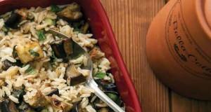 Közlenmiş-patlıcanlı-pilav