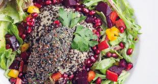 Amarant ve Beluga Mercimek Salatası