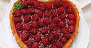 Frambuazlı Kalpli Cheesecake