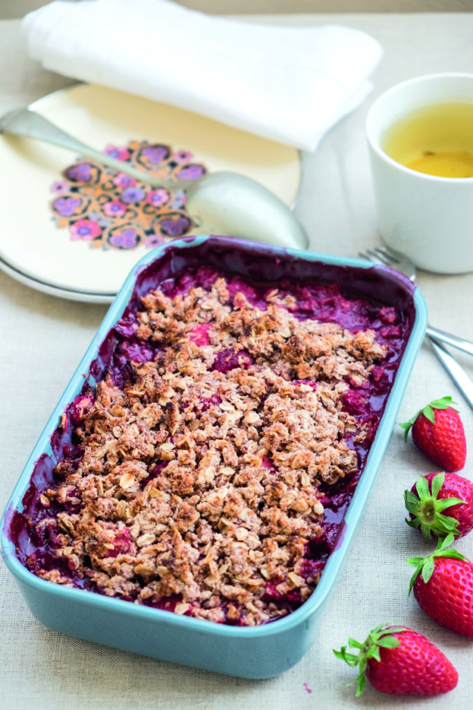 çilekli fit crumble